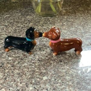 Adorable dachshund salt and pepper shakers